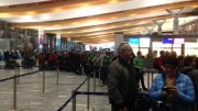 Peoples waiting in line at airport