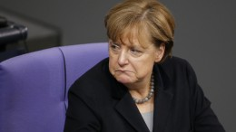 German Chancellor Angela Merkel attends a session of the German lower house of parliament, the Bundestag, in Berlin,