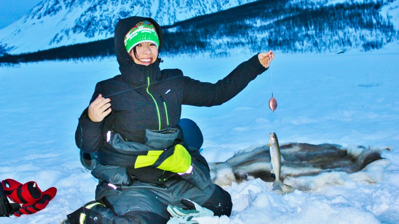Ice fishing is a very popular activity