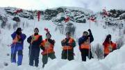 Norwegian People's Aid. Exercise in Tromsdalen