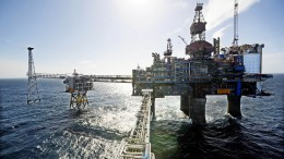 Sleipner platform in the North Sea