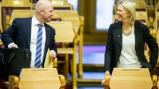 Minister of Justice and Public Security Anders Anundsen and Minister of Immigration and Integration Sylvi Listhaug ( Progress Party )