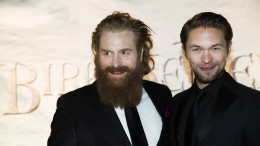 The actors Kristofer Hivju and Jacob Oftebro.