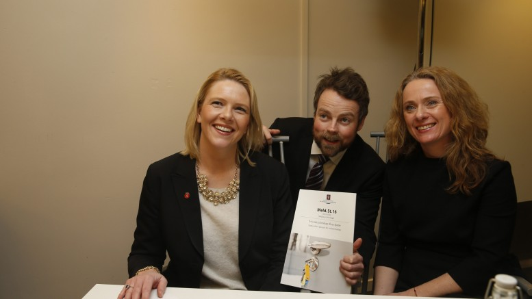 Minister of Education and Research Torbjørn Røe Isaksen, Minister of Immigration and Integration Sylvi Listhaug and Minister of Labour and Social Affairs anniken hauglie