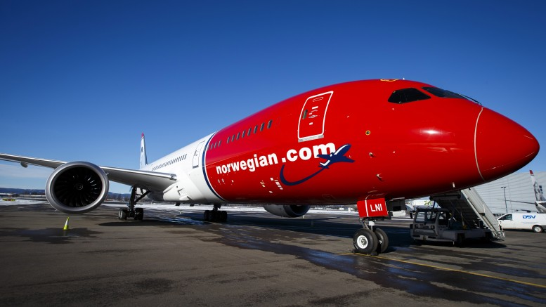 Norwegian's new Boeing 787-9 Dreamliner aircraft