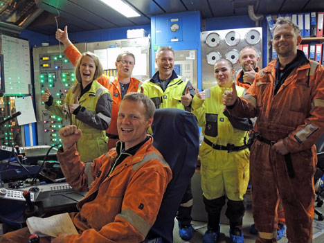 Oil & Gas Happiness onboard the Deepsea Atlantic drilling rig
