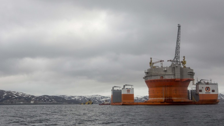 Oil production at the Goliat field is booted