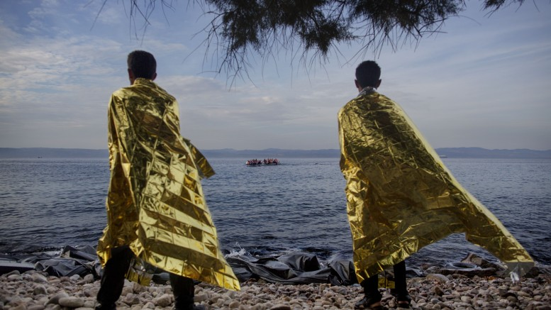 Refugee flow to Lesvos this year's picture