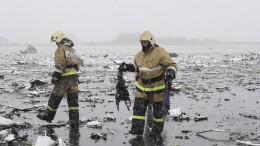 Airliner crashed during landing in Russia