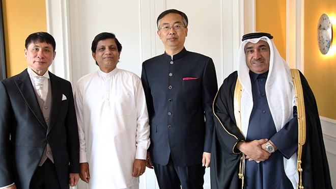 New ambassadors from Sri Lanka, China, Laos and Qatar