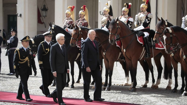 State Visits Italy. King Harald and Italy's president Sergio Mattarella