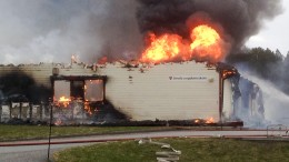 Powerful fire in the new middle school on Smøla