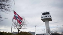Flag hoisted at half-mast at Flesland Airport