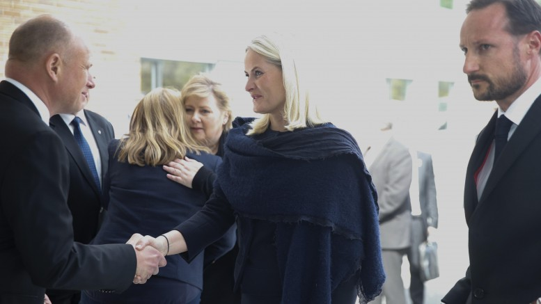 Crown Prince Haakon, Crown Princess Mette-Marit and Prime Minister Erna Solberg
