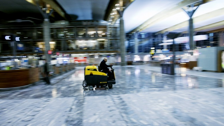 Cleaning. Oslo airport