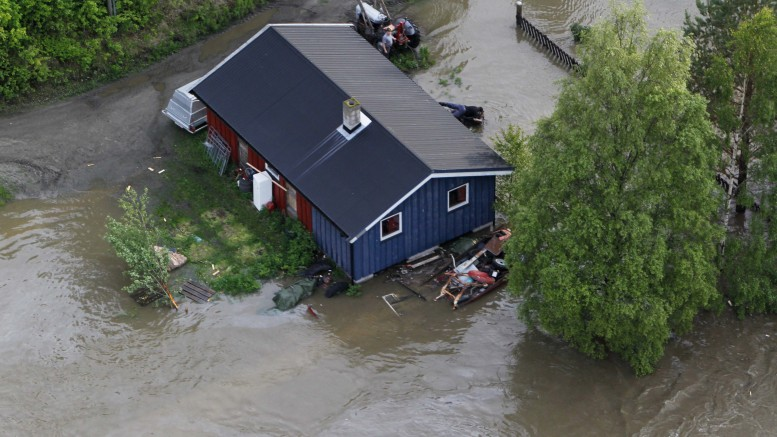 Residential houses with water damage