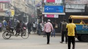 Telenor logo clearly visible on the streets in the capital Dhaka.