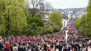 17 May celebration on Palace Square and Karl Johans gate in Oslo
