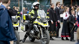 Armed police under 17. may-celebration in Oslo City Centre