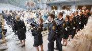Police students in Oslo receive their diplomas