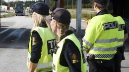 Customs officers at the border