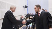 Lawyer Per Espen Eid (t.v) and prosecutor public prosecutor Jo Christian Grounded