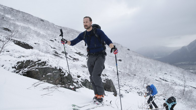 Crown Prince Haakon on ski trip