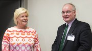 OSLO.Finance minister Siv Jensen and delegation head the IMF, Thomas Dorsey.