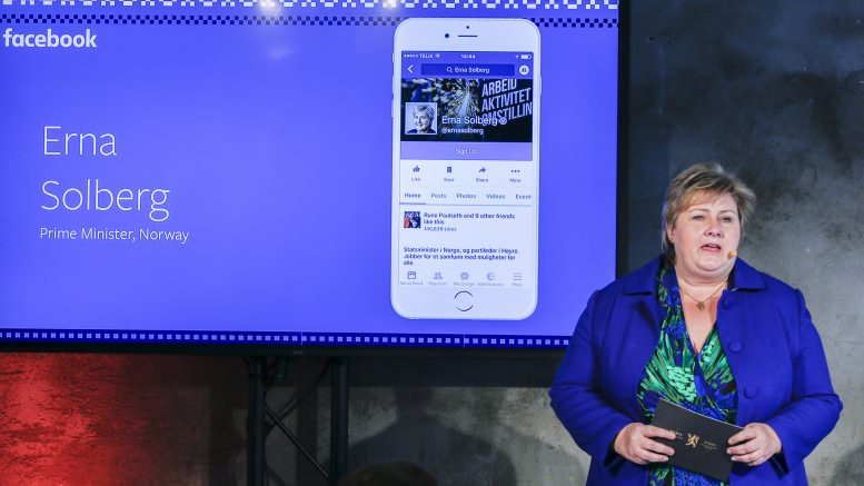 Prime Minister Erna Solberg open Facebook's office in Oslo. safety guide