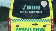 ambulance, motorcycle accident Bulgarian highway