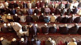 The Friday prayer in the mosque
