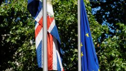 The UK and European Union flags