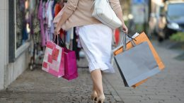 Woman on shopping.