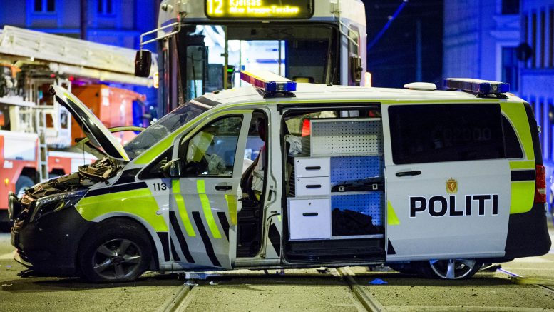 Streetcar collided with police car