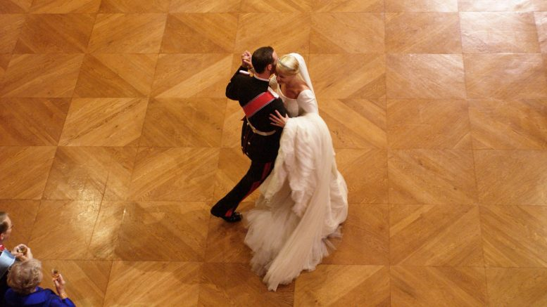 Crown Prince Haakon and Crown Princess Mette Marit dancing