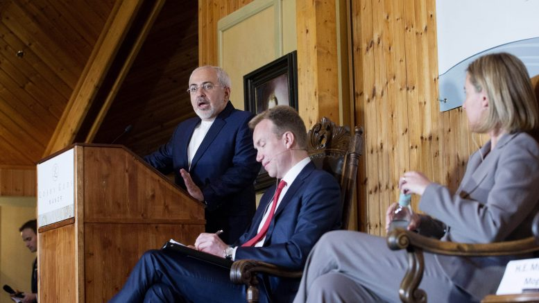 Iran's foreign minister, Mohamad Javad Zarif and Foreign Minister Børge Brende