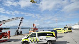 Man dead after the car landed in the sea in Molde