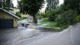 flood and storm in eastern Norway