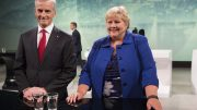 The Labor Party's leader Jonas Gahr Støre and Prime Minister Erna Solberg