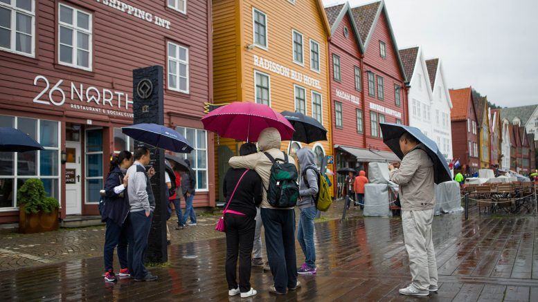 Rainy weather in Bergen