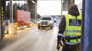 Customs control between Sweden and Norway on the svinesund