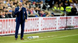 World Cup qualifying football men: Norway-Germany (0-3). National Team Coach Per-Mathias Høgmo