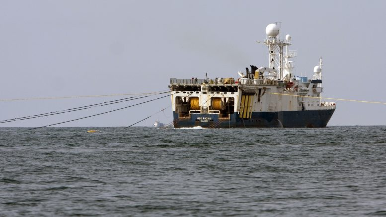 Seismic survey ship Geo Pacific