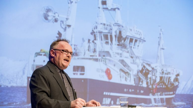 Minister of Fisheries Per Sandberg