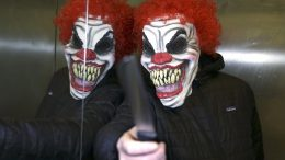 Illustration, photo of person dressed as the clown