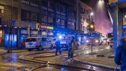 Fire in Kristiansand Centre on the night of Sunday