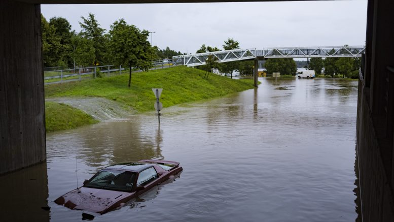 Heavy rains in eastern country