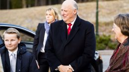 Prince Sverre Magnus and King Harald