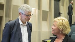 Tax Director Hans Christian Holte and Finance Minister Siv Jensen