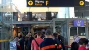 Oslo Airport. Passport queues, security breach